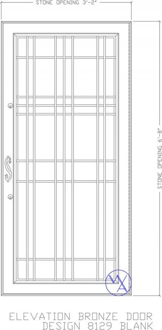 DOOR-Single-8129-Blank-Var