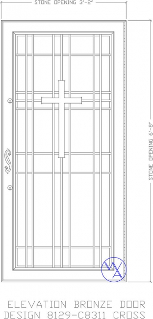 DOOR-Single-8129-C8311-Cross-Var