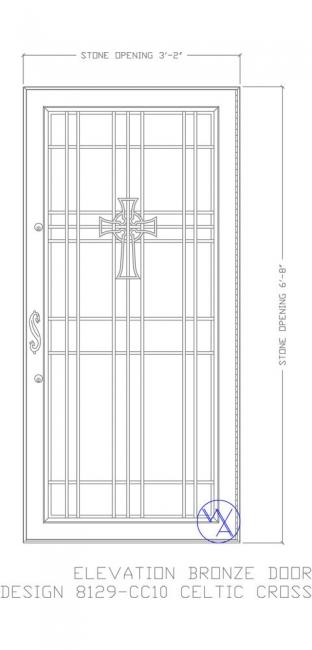 DOOR-Single-8129-CC10-Celtic-Cross-Var