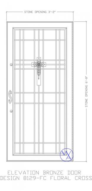 DOOR-Single-8129-FC-Floral-Cross-Var