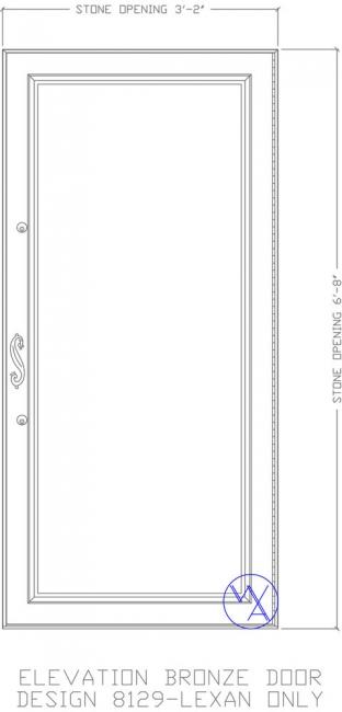 DOOR-Single-8129-Lexan-only-Var