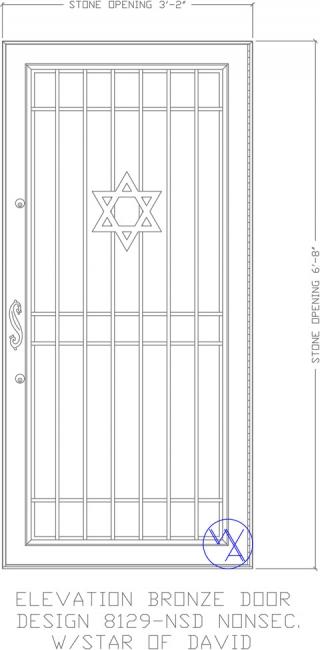 DOOR-Single-8129-NSD-NonSec-Star-of-David-Var