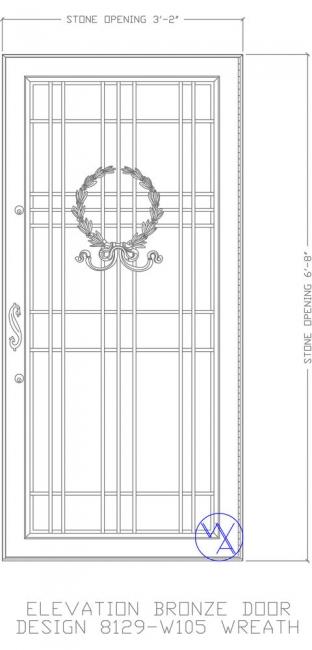 DOOR-Single-8129-W105-Wreath-Var