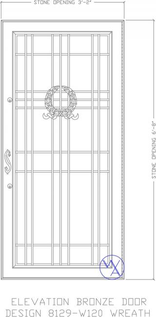 DOOR-Single-8129-W120-Wreath-Var
