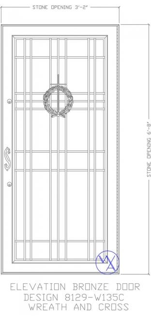 DOOR-Single-8129-W123C-Wreath-Cross-Var