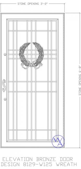 DOOR-Single-8129-W125-Wreath-Var
