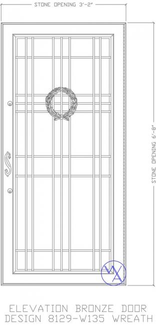 DOOR-Single-8129-W135-Wreath-Var