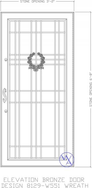 DOOR-Single-8129-W551-Wreath-Var