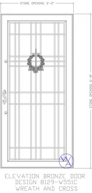 DOOR-Single-8129-W551C-Wreath-Cross-Var