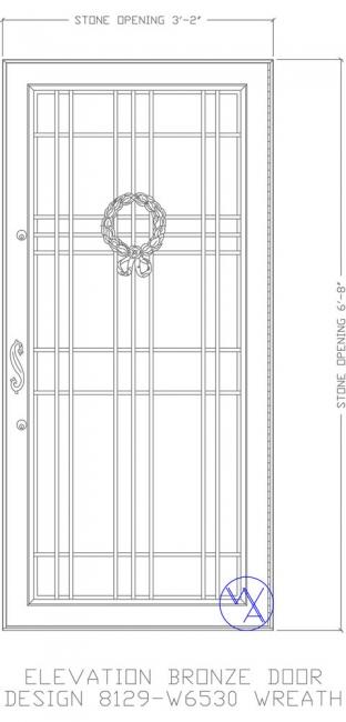DOOR-Single-8129-W6530-Wreath-Var
